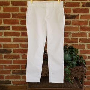 Loft White Girlfriend Chino Pants NWT 8P
